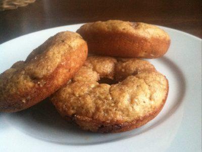 Baked Banana Bread Donuts