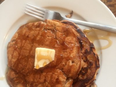 Peanut Butter and Oatmeal Banana Protein Pancakes