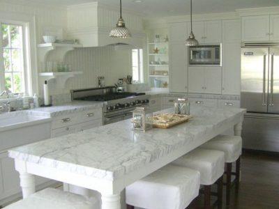 Our Dream Carrara Marble Kitchens