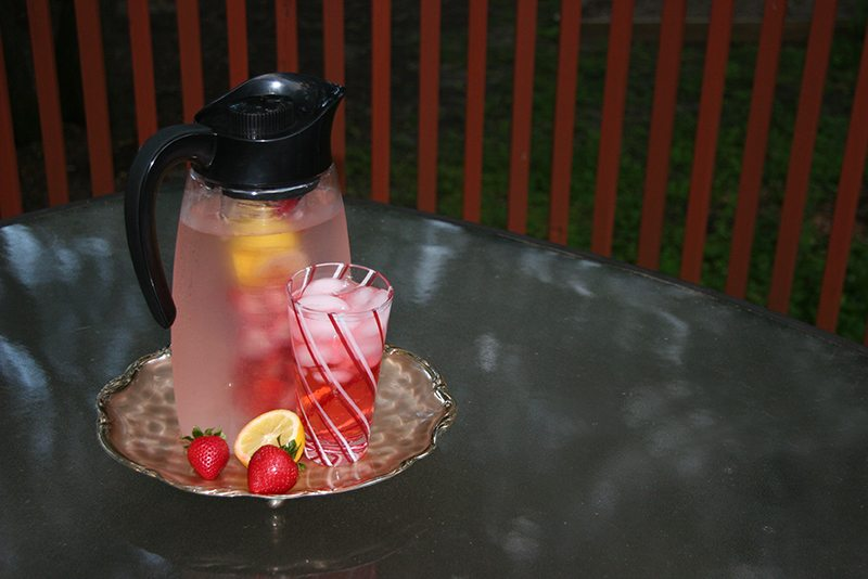 Strawberry and Lemon Infused Water with Infusion Pitcher