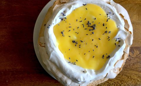Lemon and Lavender Pavlova