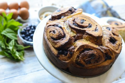 Blueberry Brioche Morning Buns