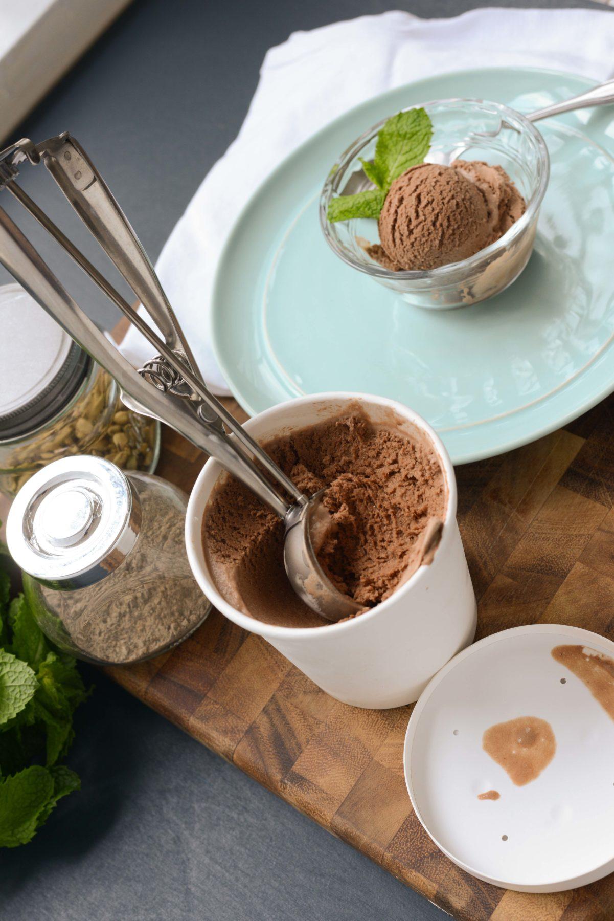 Chocolate Cardamom Ice Cream