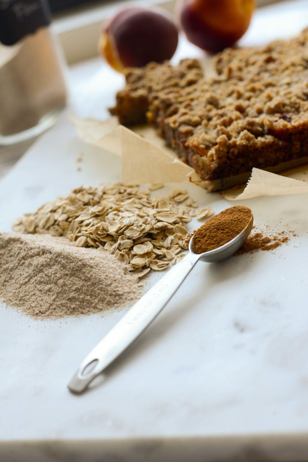 Graham Flour, Oats, Crumble Spice