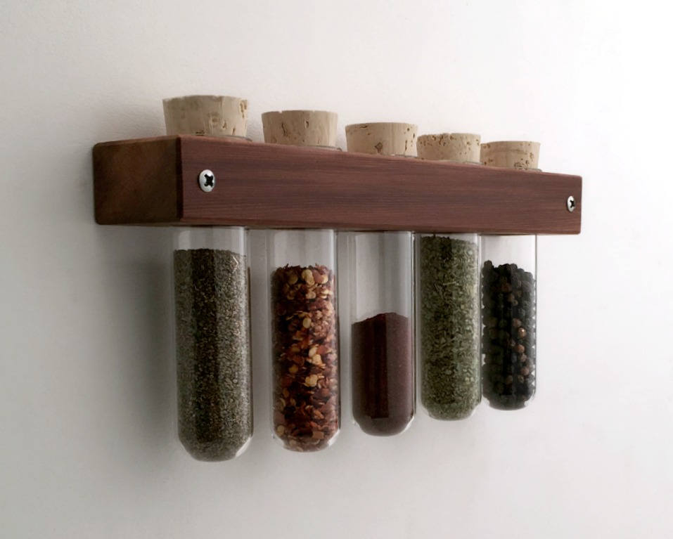 Test Tube Wall Spice Rack