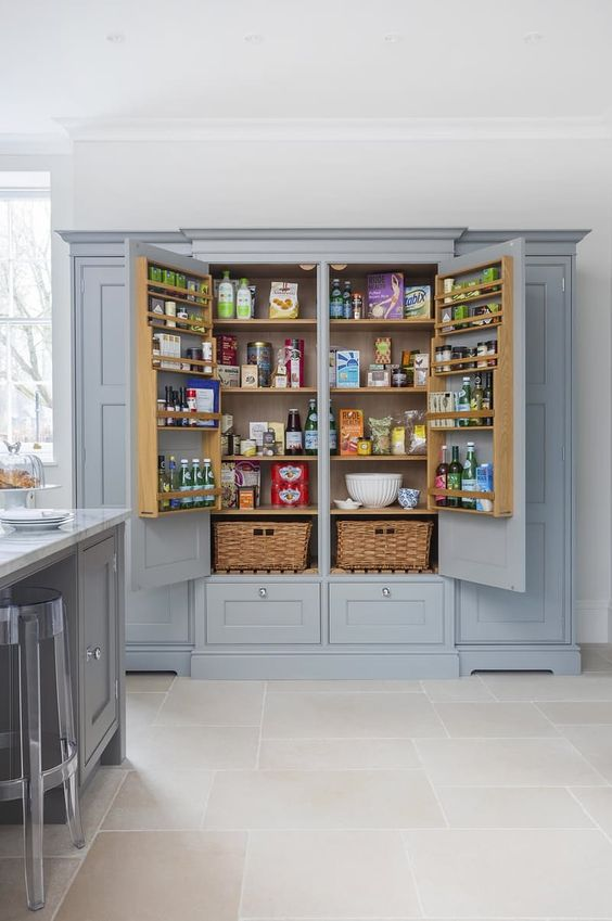 Pantry Wall, Full Wall Kitchen Cabinets